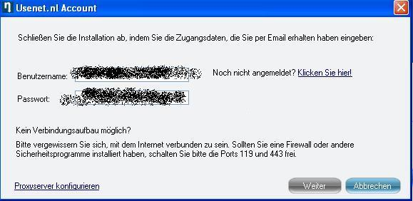 Usenet Login